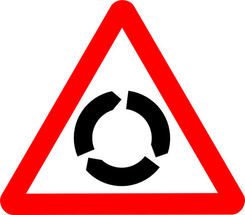 UK roundabout sign
