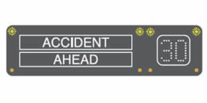 Accident motorway signal