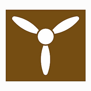 Aviation museum information symbol