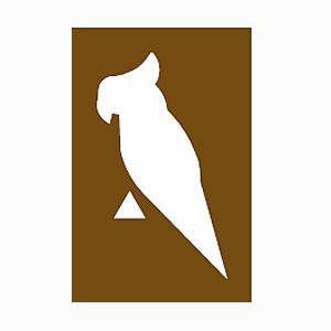 Bird garden brown sign symbol