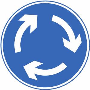 Mini-roundabout sign