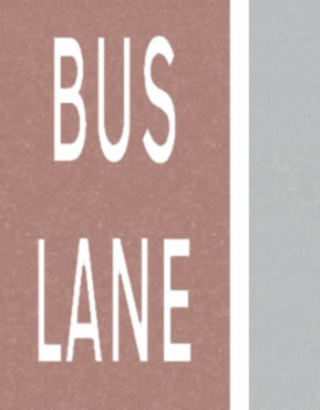 Bus lane road lines