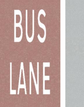 Bus lane road lines