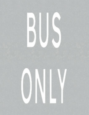 Bus only road marking