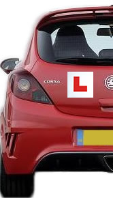 Car and L-plate