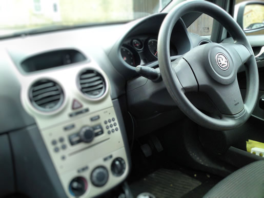 Right hand drive car used in the UK