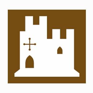 Tourists information castle symbol
