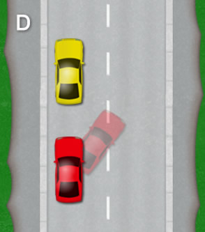 Reverse parallel park: Diagram D