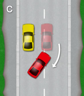 Reverse parallel park: Diagram C