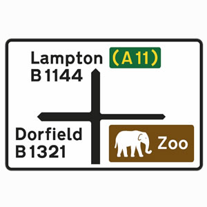 Brown Road Signs – Driving Test Tips Zoo Road Sign