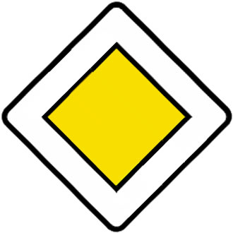 French road signs yellow diamond