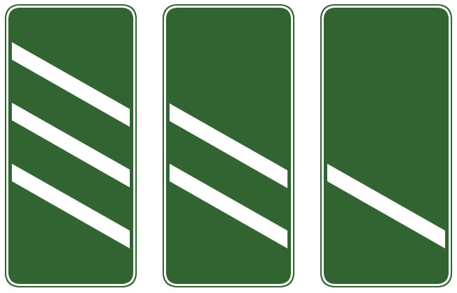 Dual carriageway countdown marker