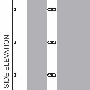 White carriageway line raised ribs