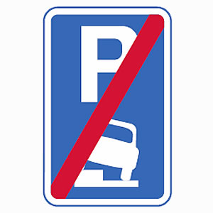 End of verge or pavement parking sign