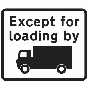Except for loading sign