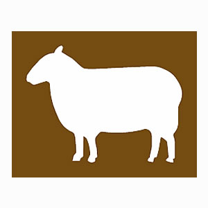Farm park tourist information symbol