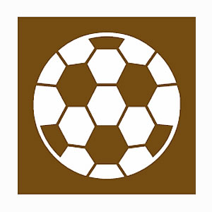 Football ground road sign symbol