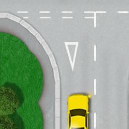Give way road marking