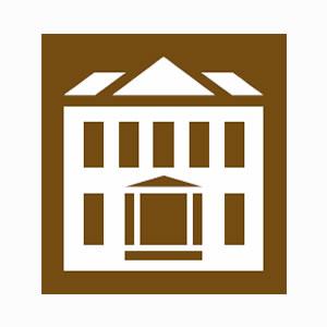 Tourists information historic house symbol