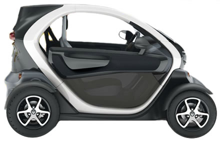 The Renault Twizy - electric powered car
