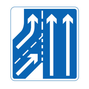 Joining motorway sign