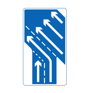 Joining UK motorway slip road sign