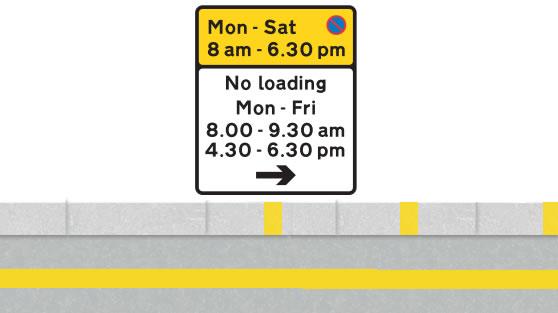 Kerb marking on single yellow line