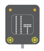 Lane closed motorway signal