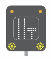 Lane closed motorway signal