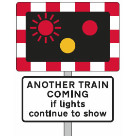 Level crossing flashing lights