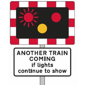 Level crossing flashing lights