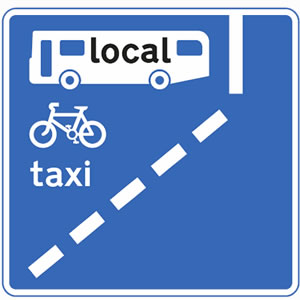 Local services bus lane sign