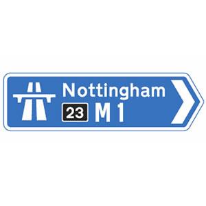 Motorway ahead sign