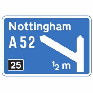Motorway junction sign