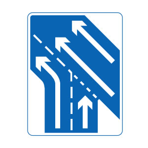Motorway slip road sign
