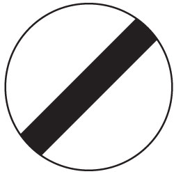 UK national speed limit sign