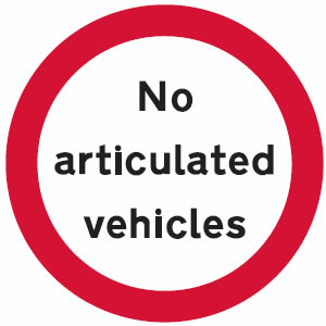 No articulated vehicles sign
