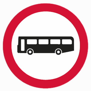No buses allowed sign