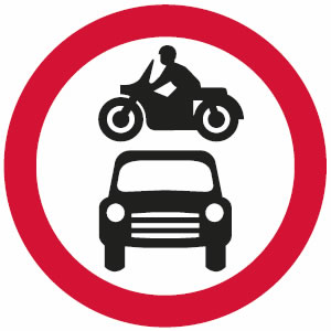 order road signs driving test tips