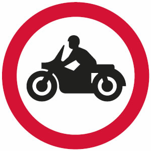 No solo motorcycles sign
