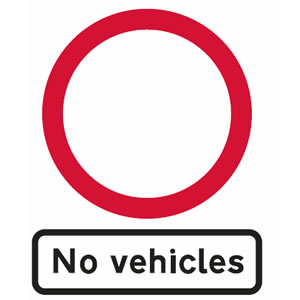 No vehicles sign