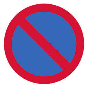 No waiting sign