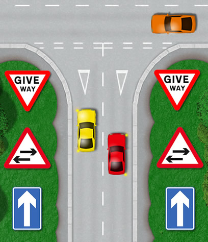 One way road T-junction
