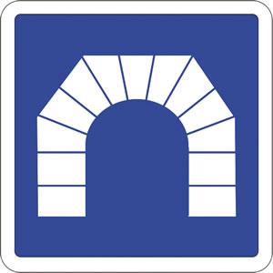 Panneau entrée d'un tunnel