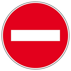 French road signs driving test tips - Sens interdit panneau ...