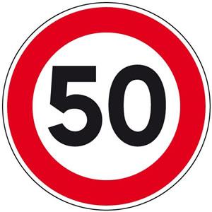 Panneau limite de vitesse