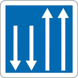Panneau route à chaussées séparées