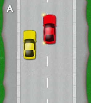 Reverse parallel park: Diagram A