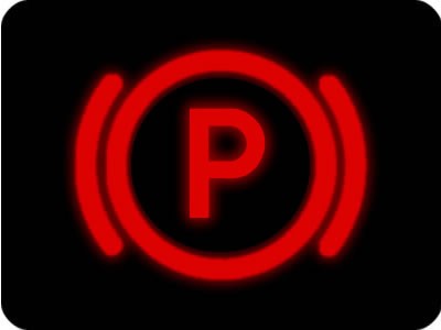 Parking brake warning light
