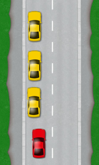 Passing parked cars on the left